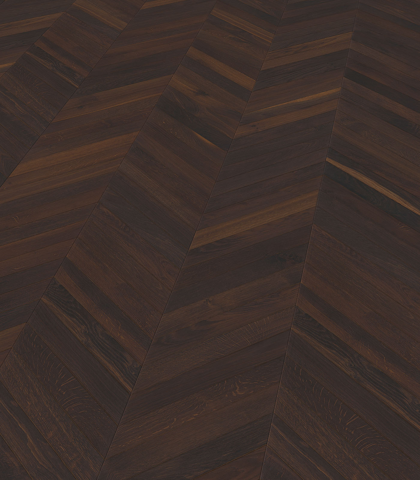 Chevron Smoked Oak Rustic Single Plank Floorart